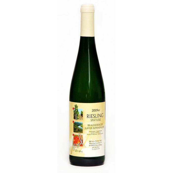 Weisswein 09er Juffer-Sonnenuhr Riesling edelsüß Spätlese  Edelstahl 75cl