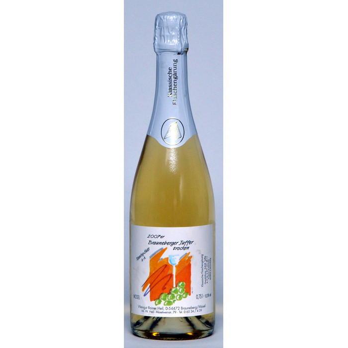 Winzersekt Juffer Riesling trocken Auslesequalität 4 J Flaschenreifung 75cl